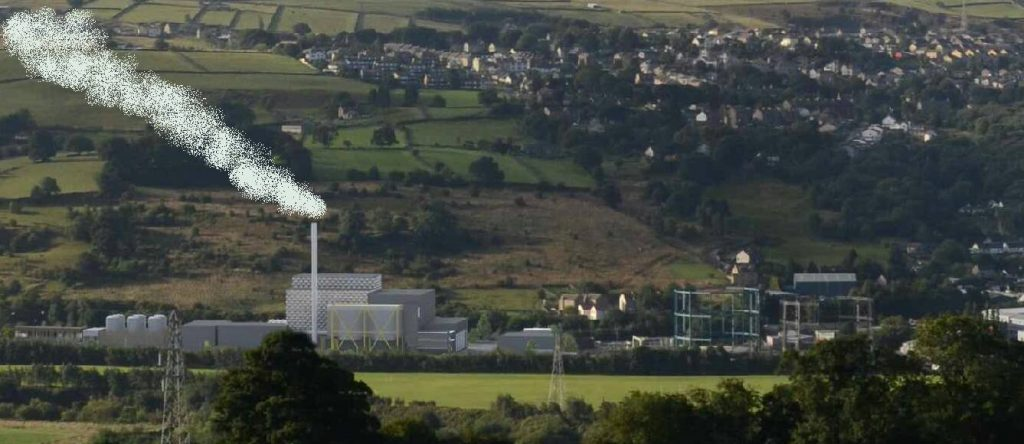 A scale view from Riddlesden of the proposed incinerator in the valley bottom